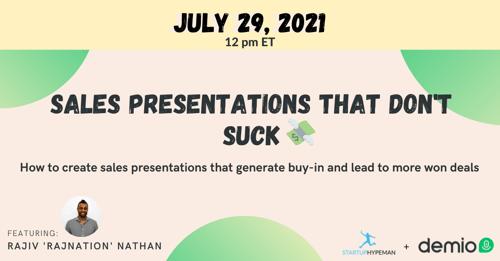 Sales Presentations That Dont Suck